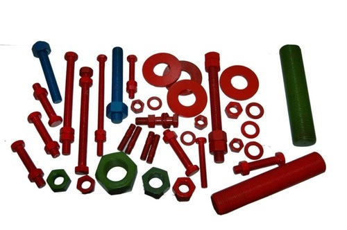 PTFE Coated Fasteners Studs Bolts and Nuts - Fluoropolymer