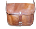 Vintage Leather Curve Sling Bag