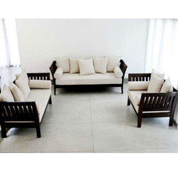Brown Designer Wooden Sofa Set