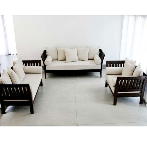 Brown Designer Wooden Sofa Set Rs