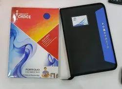 Zipper Executive Portfolio File Folder, Paper Size: Fc
