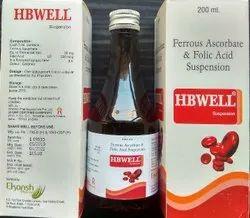 Ferrous Ascorbate Eq To Elemental Iron 30mg Folic Acid 550mcg, Packaging Type: Bottle 200 Ml