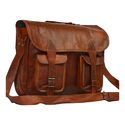 Vintage Brown Leather Messenger Bags, Pure Leather: Yes