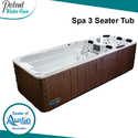 White Spa 3 Seater Tub For Hotels