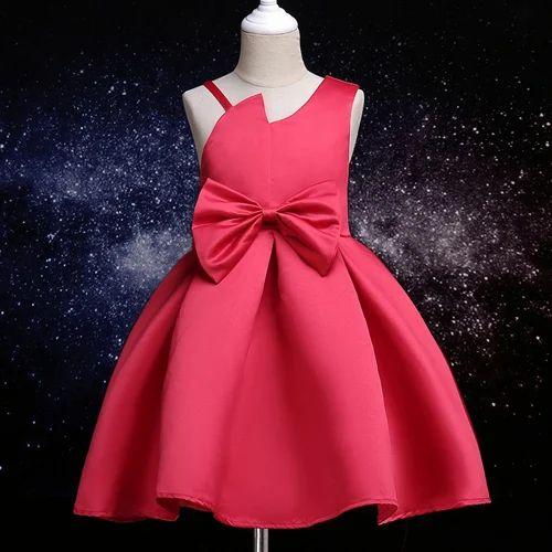 cc26af7590 Stylish Party Dress With Big Bow