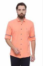 Cotton Allen Solly Peach Wimbledon Shirt