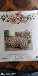 Celebrations- Book Packed Cotton King Bed Sheets