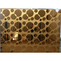 Flat Golden Pattern Glass, Size: 6 X 8 Feet