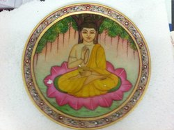 Buddha Painting On Plate