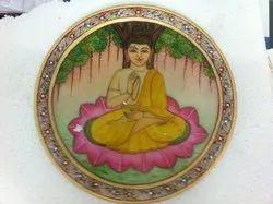 Buddha Painting On Plate