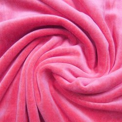 Pink Velvet Fabric with Drape Texture Delicate Color