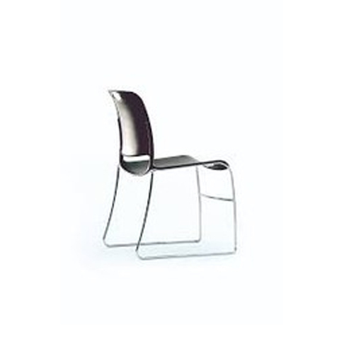 Stainless Steel Black Stackable Cafeteria Chair, Weight: 5 - 6 kg