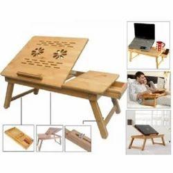 Rectangular Wooden Foldable Laptop Table