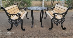 Antique Outdoor Garden Bench Set