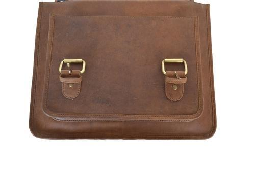 135be6b790c5 Handmade 100% Real Crazy Horse Leather Men s Brown Briefcase Handbag ...