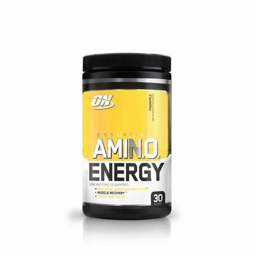 Optimum Nutrition ON Amino Energy Pineapple Pre Workout Supplement, Packaging Type: Plastic Container