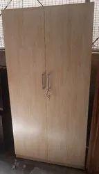 Multicolor 2 Door Wooden Wardrobe, Warranty: 5 Year