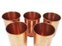 5 Pieces Handmade Ayurveda Pure Copper Glass Cup