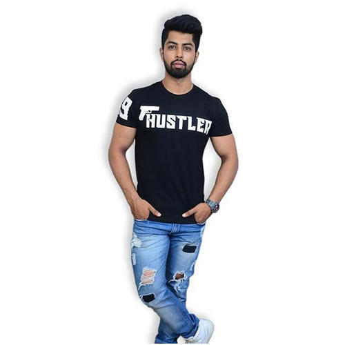 96d0797c1 Uncultured Men Printed Black T-Shirt