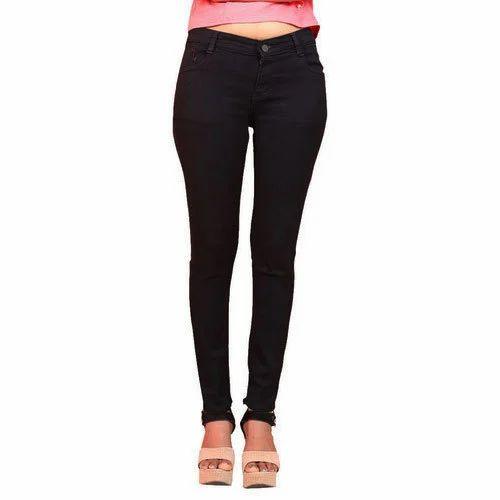 67a12f107561d Aara Women 28-36 Ladies Denim Black Jeans, Rs 635 /piece | ID ...