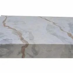 Pan India White and Brown Mix Marble, Slab, Features: It Has Smooth And Polished Texture