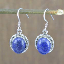 Lapis Lazuli Gemstone 925 Sterling Silver Jewelry Earring