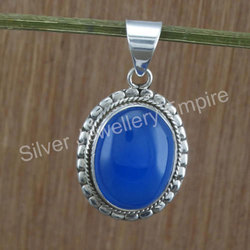 Chalcedony Gemstone 925 Sterling Silver Jewelry Pendant