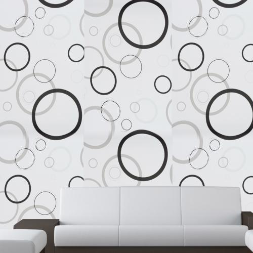 printed vinyl wallpapers and non woven adhesive pvc wall sticker, rs