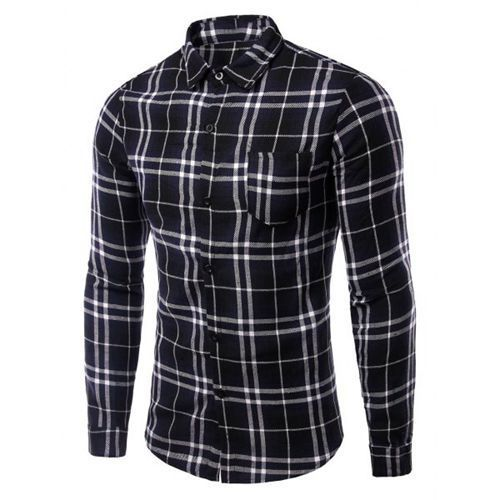 eb222a1f9 S And M Black And White Men  s Checked Shirt