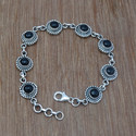 Black Onyx 925 Sterling Silver Gemstone Bracelet Jewelry