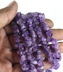 Amethyst Stone Uncut Chips Beads