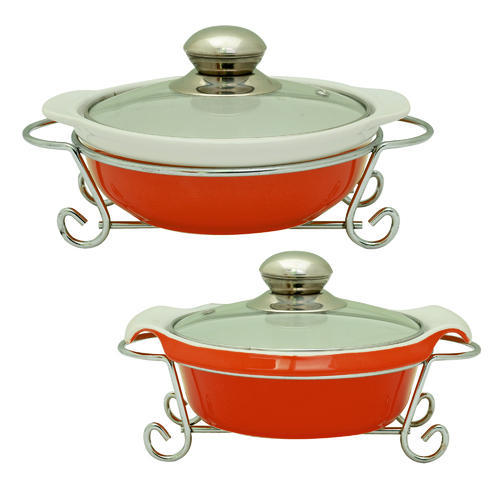 Ceramic Casserole Crockery Dining Serving Bowl 1000ml- Handi  sc 1 st  IndiaMART : tableware serving dishes - pezcame.com