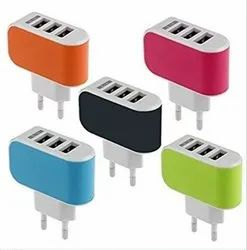 3 Port USB Mobile Charger