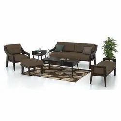 6 to 7 Seater Brown Designer Wooden Sofa Set