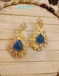 Golden Traditional Earrings