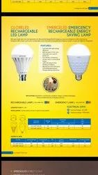 LED Plastic Invertor Emergency Lamp, 9 And 18w, B22