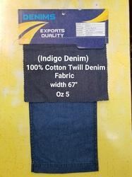 Cotton Twill Denim Fabric(Indigo Denim)