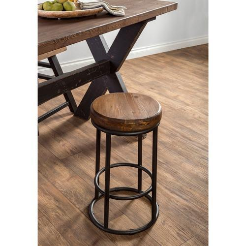 Iron And Reclaimed Wood Bar Stool Size 24 Inch Rs 2050 Piece
