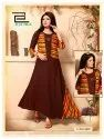 Lahariya Long Kurtis With Hand Work Design And Jacket Anarkali
