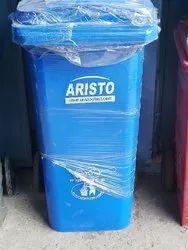 Plastic Blue Wheeled Dustbin
