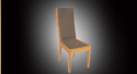 Brown Mango Wood & Leather Milano Chair 2203