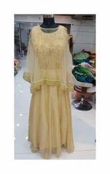 Party Chiffon Designer Cap-Gown, Size: Large