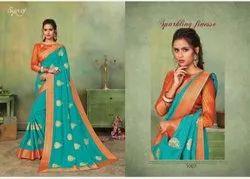 Beautiful Designer Vichitra Silk Saree