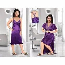 Purple Ladies Plain Satin Nighty 97917bc6c
