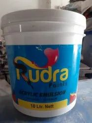 Rudra 10L Acrylic Emulsion Paints, Packaging Type: Bucket