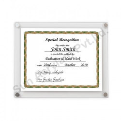 Acrylic Certificate Display