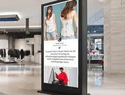 Stainless Steel Acrylic Advertising Lollipop Sign Board, Shape: Rectangular