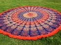 Indian Cotton Printed Round Beach Towels