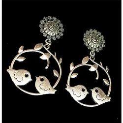 Oxidized Fish Design Earrings