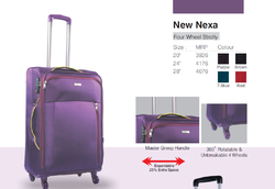 Purple Polyester Trolley Suitcase, Number Of Wheel: 4, Size: 28 Inch